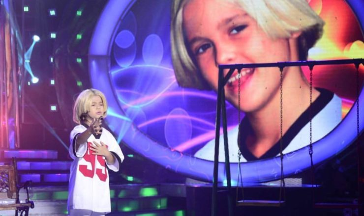 Xia Vigor as Aaron Carter in Your Face Sounds Familiar Kids