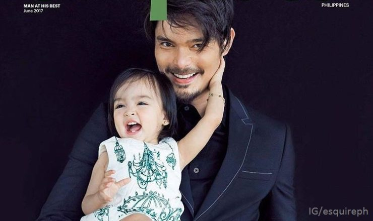 Dingdong Dantes with daughter Zia for Esquire PH