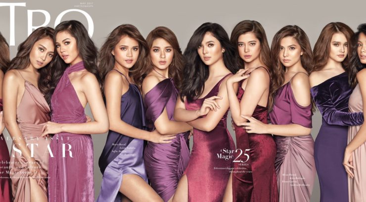 Kathryn, Liza, Janella, Loisa on the cover of Metro May 2017