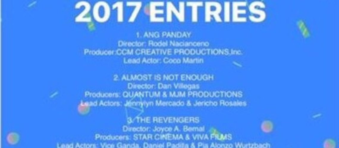 First 4 entries in MMFF 2017 announced