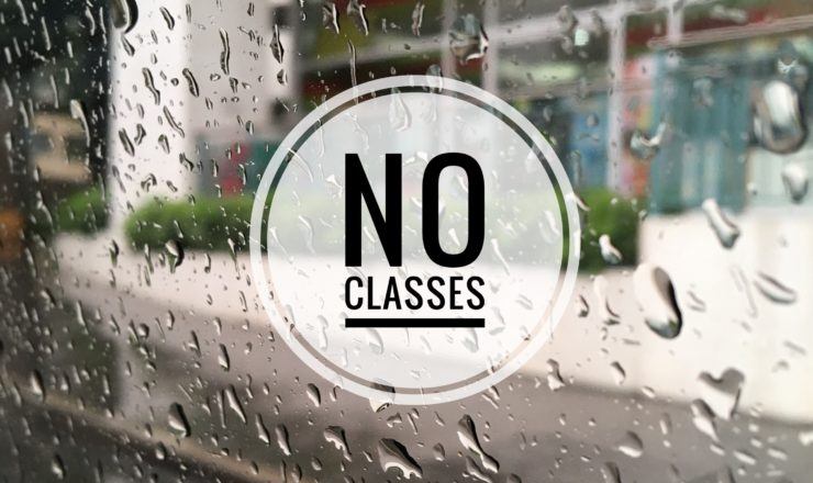 Cancellation of Classes – Monday (July 9, 2018)