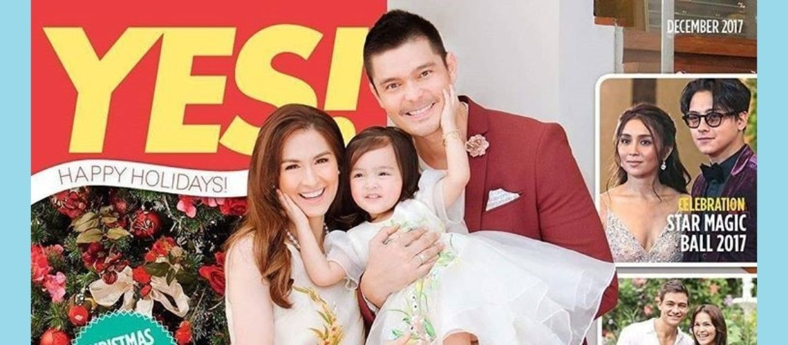 Marian Rivera, Dingdong Dantes and Baby Zia cover Yes! December 2017