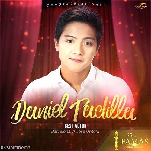 Daniel Padilla - Best Acto, FAMAS 2017