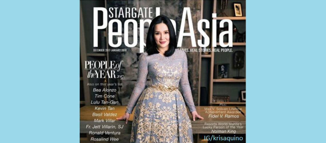 Kris Aquino for People Asia December 2017-January 2018