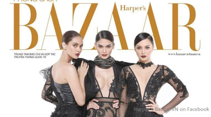 Megan Young, Pia Wurtzbach, Kylie Verzosa for Harper's Bazaar VN