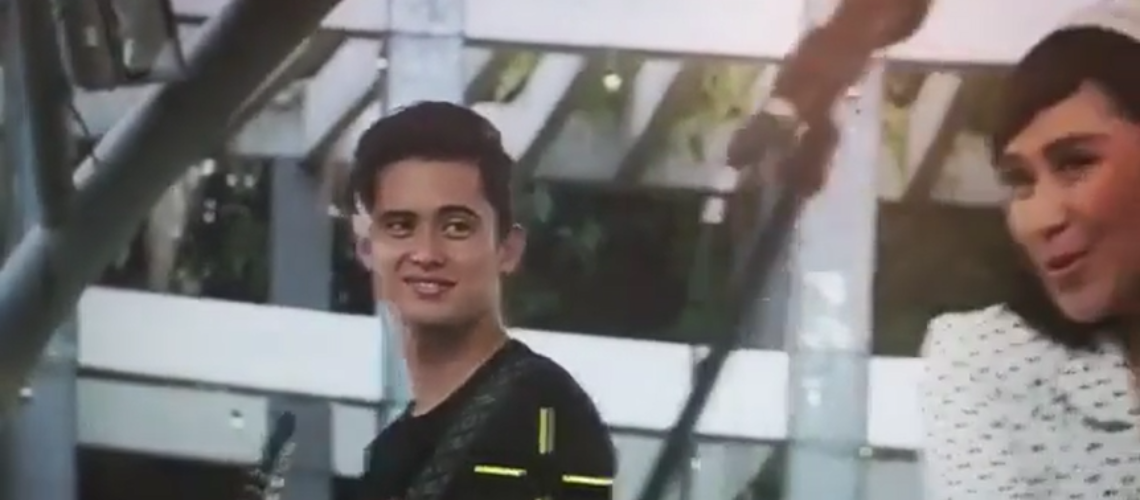 Sarah Geronimo and James Reid in Miss Granny BTS
