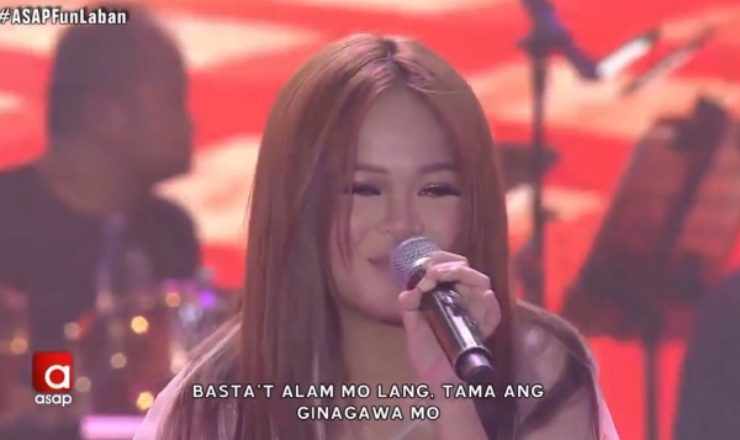 Janine Berdin makes first ASAP performance