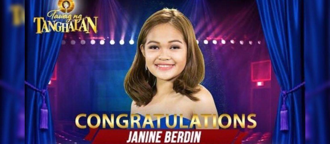 Janine Berdin wins Tawag Ng Tanghalan Season 2
