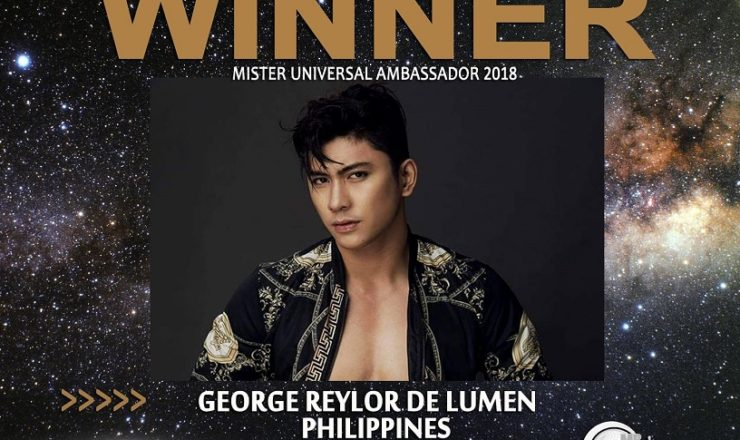 George Reylor De Lumen is Mister Universal Ambassador 2018