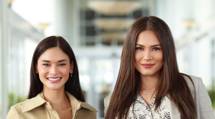 Pia Wurtzbach and Andrea Meza meet for the first time